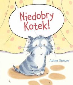Niedobry kotek, wydawnictwo Łajka, dystrybucja Jacobsony