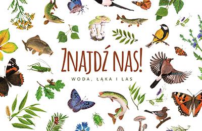 Znajdź nas! Woda, łąka i las - Jacobsony - okładka - ksiązka dla dzieci